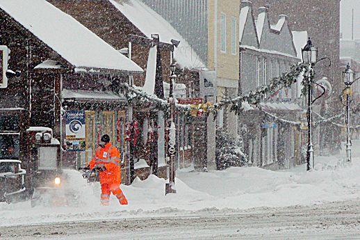 Une deuxième tempête pourrait toucher la Gaspésie.... (Photo d'archives)