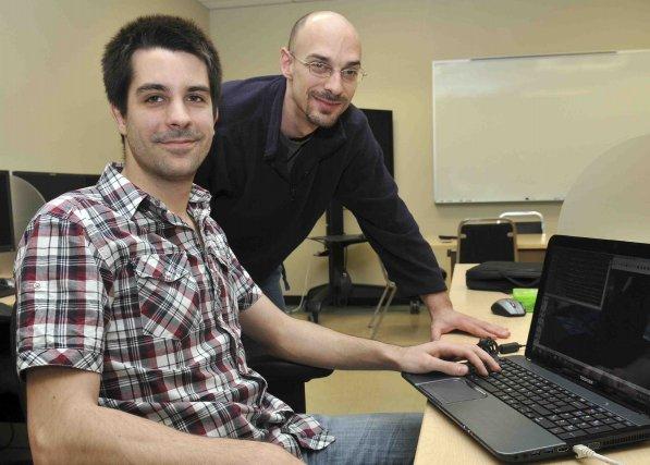 Frédérick Imbeault et Frédéric Boucher participent à un... (Photo Rocket Lavoie)