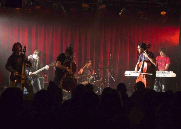 Le groupe Cellos On Fire a fait bonne... ((Courtoisie Gaël Chabot-Leclerc))