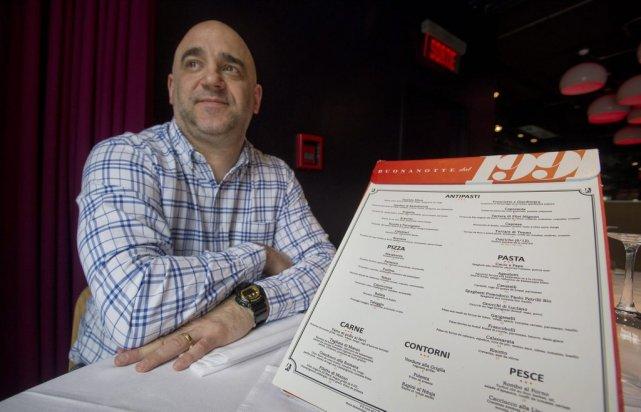 Massimo Lecas, copropriétaire du restaurant Buenanotte, s'est fait... (Photo Graham Hughes, La Presse Canadienne)