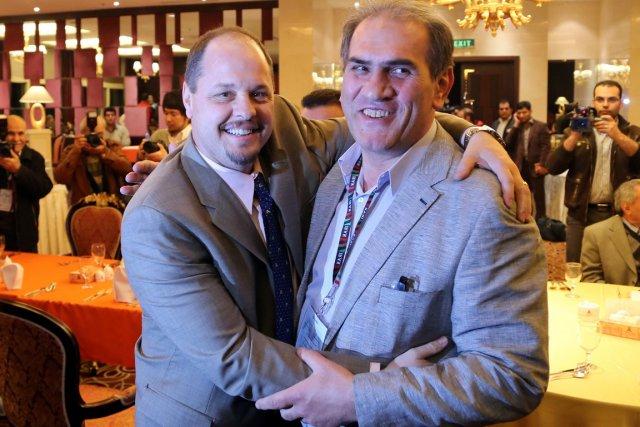 Le directeur exécutif de la lutte américaine, Rich... (Photo Atta Kenare, AFP)