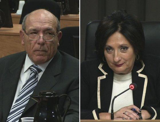 Nicolo Milioto et la commissaire France Charbonneau....