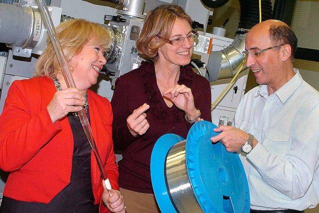 Marie-Andrée Doran, Leslie Ann Rusch et Younès Messaddeq... (Le Soleil, Jean-Marie Villeneuve)