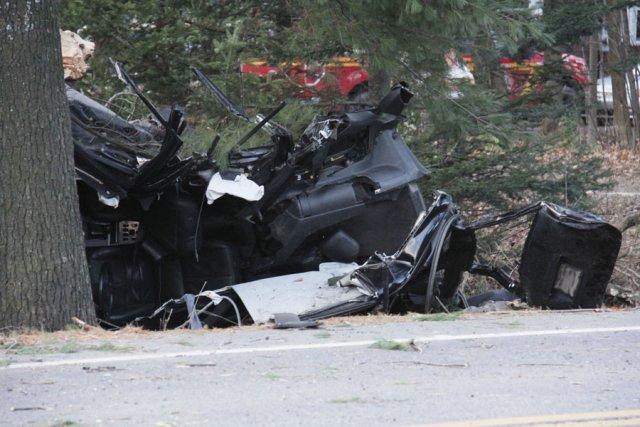 L'état de la Mercedes, après l'accident, laisse croire... (photo Janick Marois, archives la voix de l'Est)
