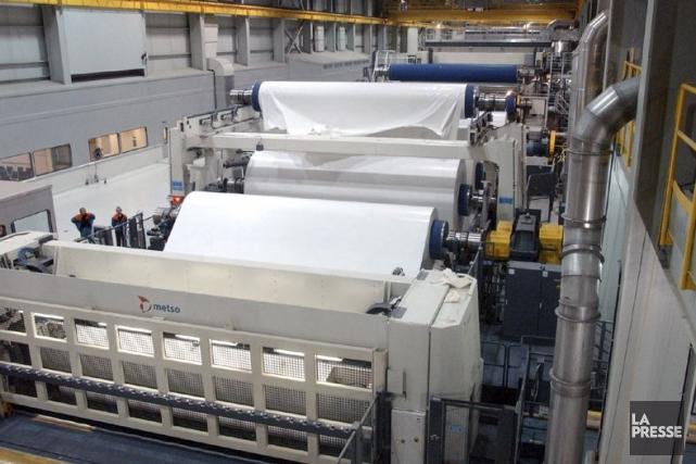Usine de fabrication de papier.... (Photo fournie par Kruger)