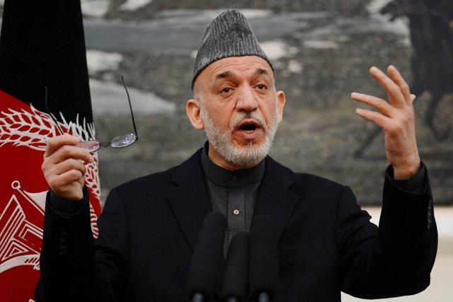 Le président afghan Hamid Karzaï.... (PHOTO SHAH MARAI, AFP)