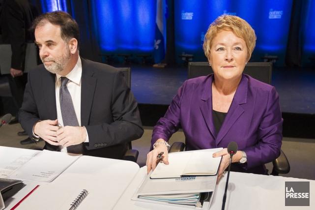 Le ministre de l'Enseignement supérieur, Pierre Duchesne, et... (Photo: Olivier Pontbriand, La Presse)