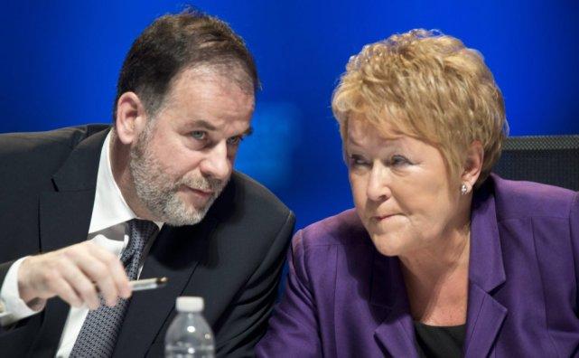 Le ministre de l'Enseignement supérieur Pierre Duchesne et... (La Presse Canadienne)
