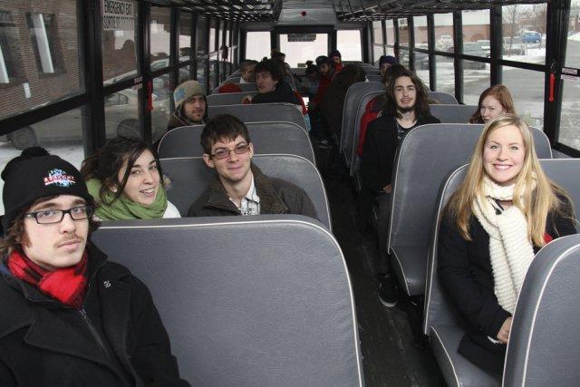 Les étudiants du cégep de Granby Haute-Yamaska avaient... (photo Janick Marois)