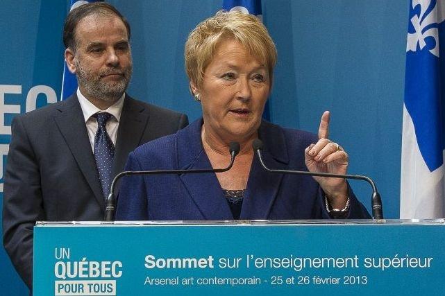 Pauline Marois et Pierre Duchesne.... (Photo La Presse Canadienne)