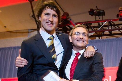 Justin Trudeau et Martin Cauchon lors d'un débat... (Archives La Presse Canadienne)