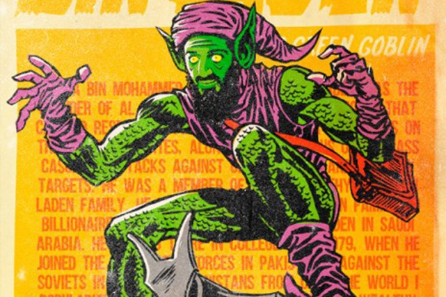 Ben Laden est le Goblin, ennemi juré de... (ILLUSTRATION BUTCHER BILLY, BEHANCE.NET)