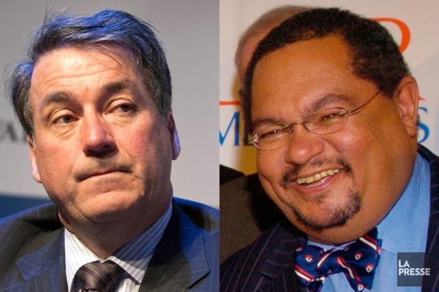 Pierre Duhaime et Arthur Porter... (Photomontage lapresse.ca)