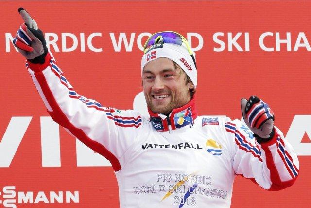 Northug en est à son huitième titre mondial... (PHOTO GIAMPIERO SPOSITO, REUTERS)