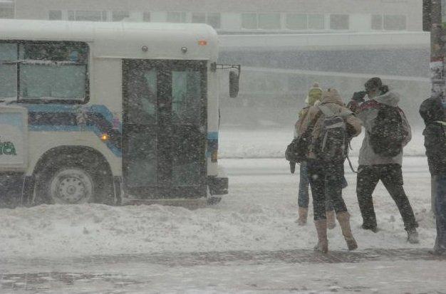 La neige sera accompagnée de vents de 40... (Photothèque Le Soleil, Yan Doublet)