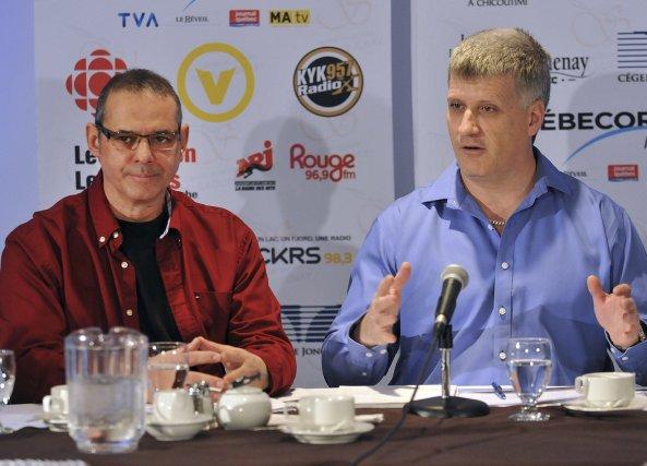 Jacques Gagné et Alain Gagnon au Cercle de... (Photo Rocket Lavoie)