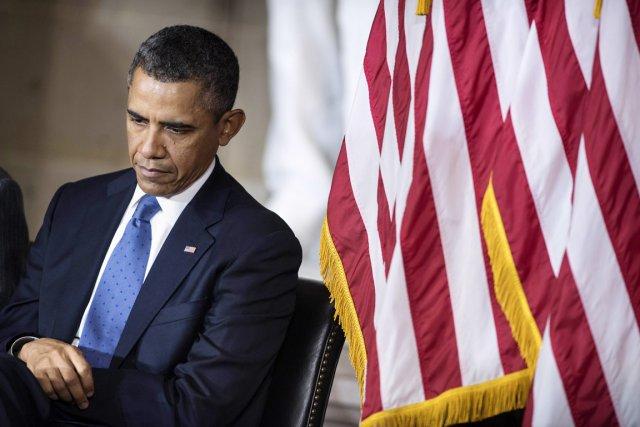 Barack Obama a invité les chefs de file... (PHOTO BRENDAN SMIALOWSKI, AFP)