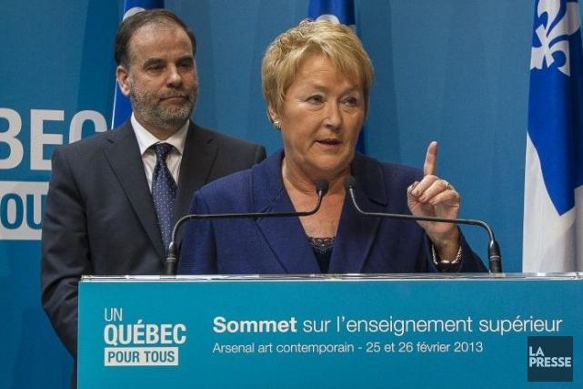 Pauline Marois et Pierre Duchesne.... (Photo Olivier Pontbriand, La Presse)