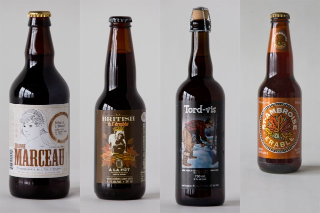 Avec la saison des sucres qui démarrera incessamment, les bières à l'érable ont... (PHOTOMONTAGE LA PRESSE)