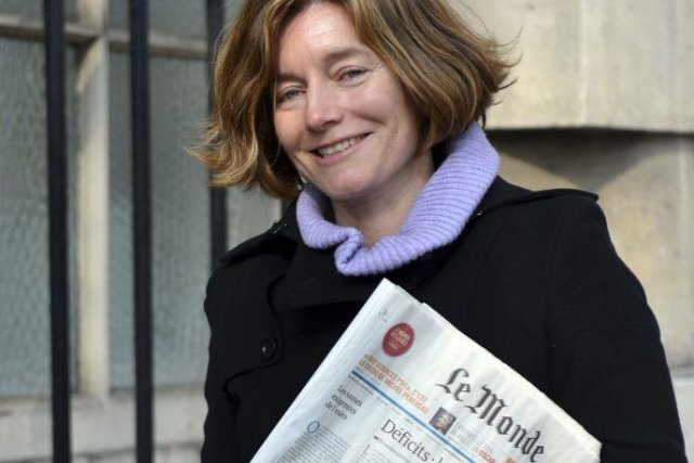 Natalie Nougayrède, directrice du quotidien français Le Monde.... (Photo: archives AFP)