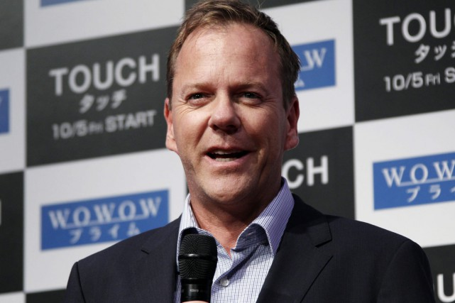 L'acteur Kiefer Sutherland.... (PHOTO Koji Sasahara,  ASSOCIATED PRESS)