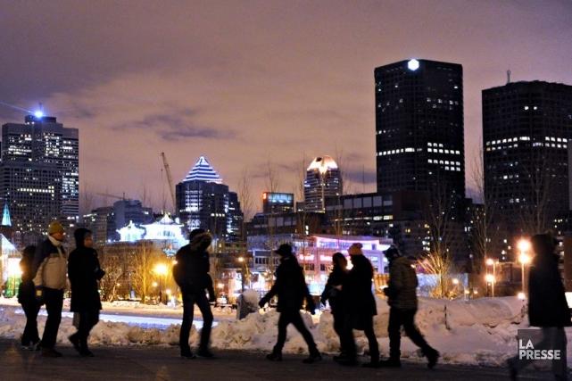La Nuit blanche de Montréal en images.... (Photo : Bernard Brault, archives La Presse)