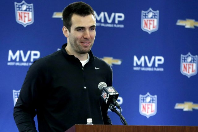 Le quart Joe Flacco devient le joueur le... (Photo Darron Cummings, AP)