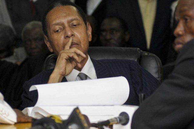 Jean-Claude Duvalier en cour jeudi dernier.... (Photo: Reuters)