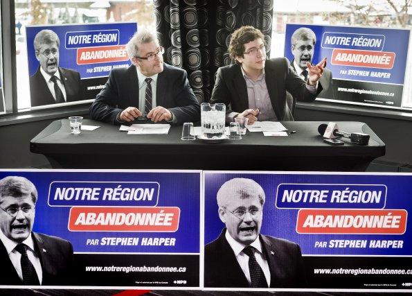Le NPD a lancé, hier, une campagne multiplateforme dans une dizaine de villes... (Imacom, Jocelyn Riendeau)