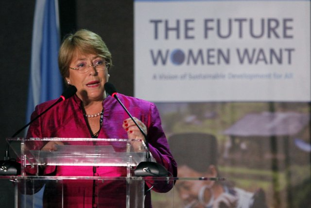 La directrice exécutive d'ONU Femmes, Michelle Bachelet.... (Photo: Reuters)