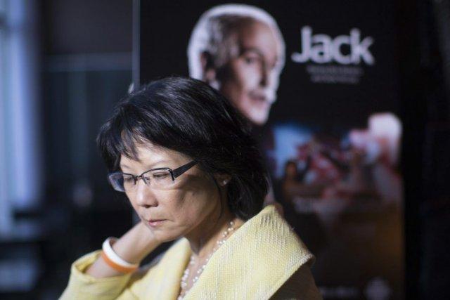 Olivia Chow à l'avant-première du film Jack, dans... (Photo: La Presse Canadienne)