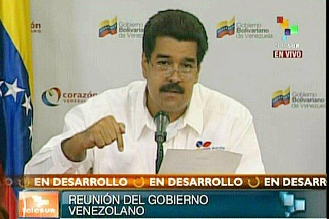 Le vice-président vénézuélien Nicolas Maduro.... (IMAGE AFP/TELESUR)