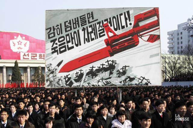 La télévision nord-coréenne a diffusé des images d'un... (PHOTO JON CHOL JIN, AP)