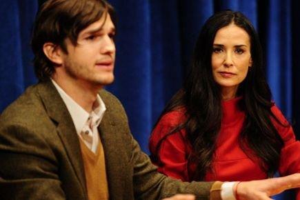 Ashton Kutcher et Demi Moore... (AFP)