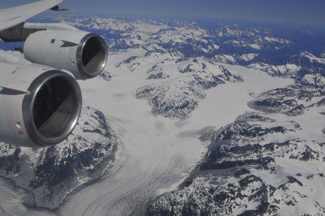 Un glacier de la Colombie-Britannique est vu d'un... (PHOTO FOURNIE PAR LA NASA)