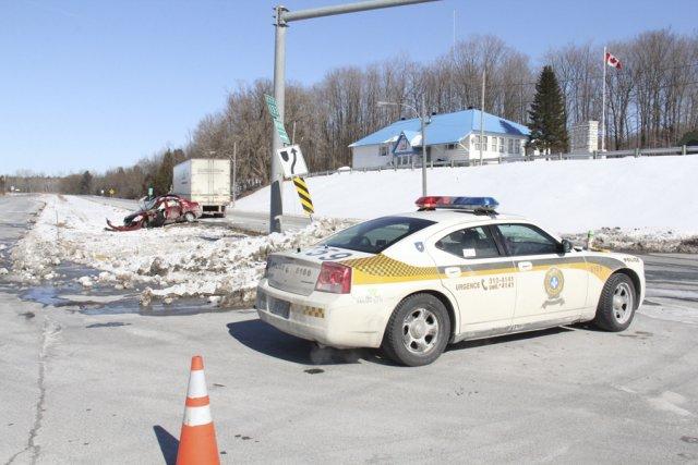 Un coroner recommande le réaménagement d'une intersection où... (photo archives La Voix de l'Est)