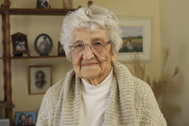À 96 ans, Régina Lapointe pourrait devenir la... (photo Alain Dion)