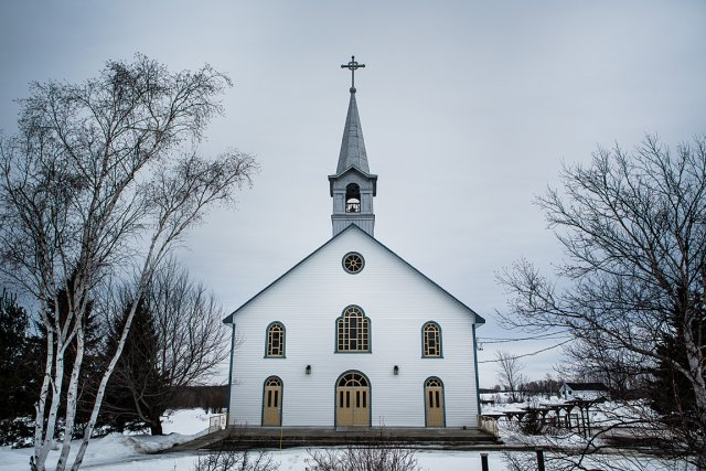 L'église du village La Motte, en Abitibi, d'où... (Photo: Édouard Plante-Fréchette, La Presse)