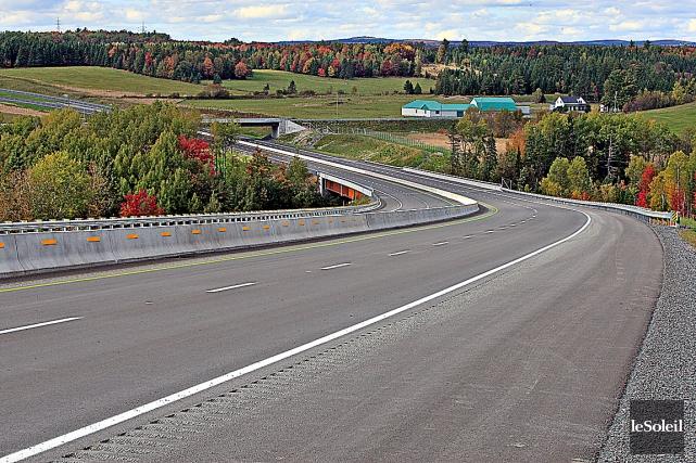 Le dernier segment de l'autoroute de la Beauce,... (Photothèque Le Soleil, Pascal Ratthé)