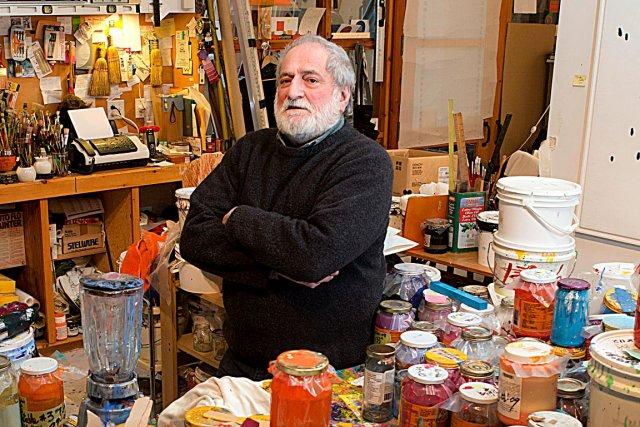 Le peintre Claude Tousignant nous a ouvert les... (La Presse, Robert Skinner)