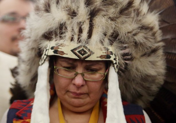 la chef de la réserve d'Attawapiskat, Theresa Spence,... (Photo Fred Chartrand, PC)