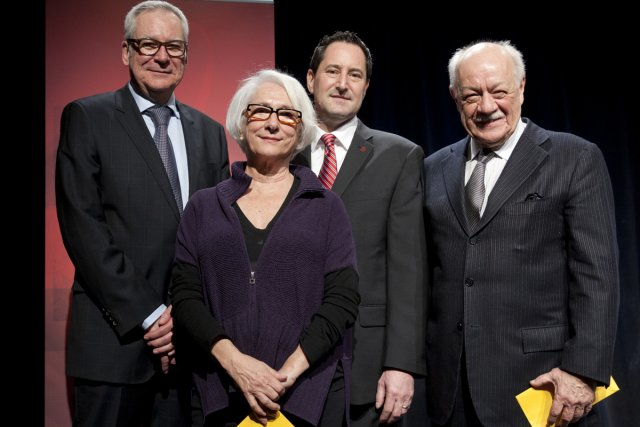 Louis Lalande, vice-président principal de  Radio-Canada, Marie-Hélène... (Photo: David Boily, La Presse)