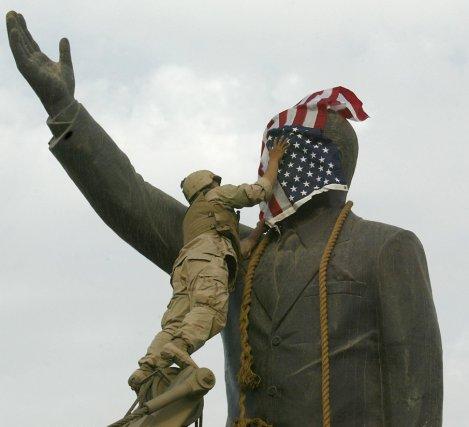 Quelques heures après l'entrée des forces américaines à... (Photo Ramzi Haidar, Agence France-Presse)