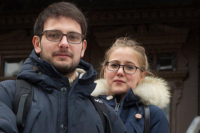 Julian Maiuri et Alice Toulotte ont emprunté la... (La Presse, Ivanoh Demers)