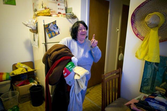 Grâce au projet Chez Soi, Ginette Vallée, 50... (Photo: André Pichette, La Presse)