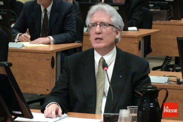 Marc Deschamps, agent officiel pour Union Montréal, lors... (Photo: tirée d'une vidéo, La Presse)