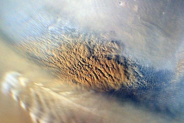 Vue d'une tempête de sable sur le sol... (Photo: archives NASA)