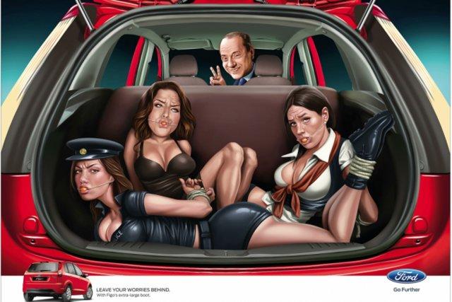 Ford India a retiré cette publicité controversée.... (IMAGE FORD INDIA)