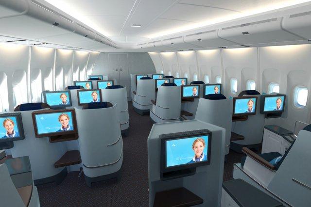 La compagnie néerlandaise KLM a dévoilé ses nouvelles cabines World Business... (Photo RelaxNews)