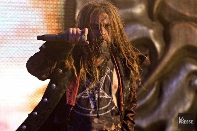 Rob Zombie lors de sa prestation au festival... (Photo: François Roy, archives La Presse)